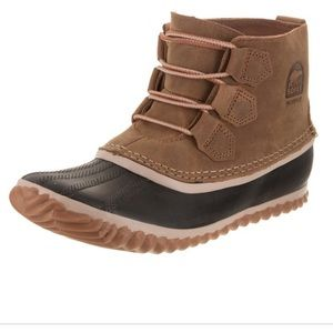 SOREL Out N About Elk Leather Outdoors Duck Boots